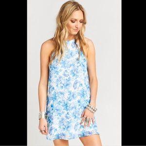 NWT Show Me Your Mumu Gomez Blue Floral Dress